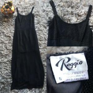 90s Reggio beaded formal maxi dress